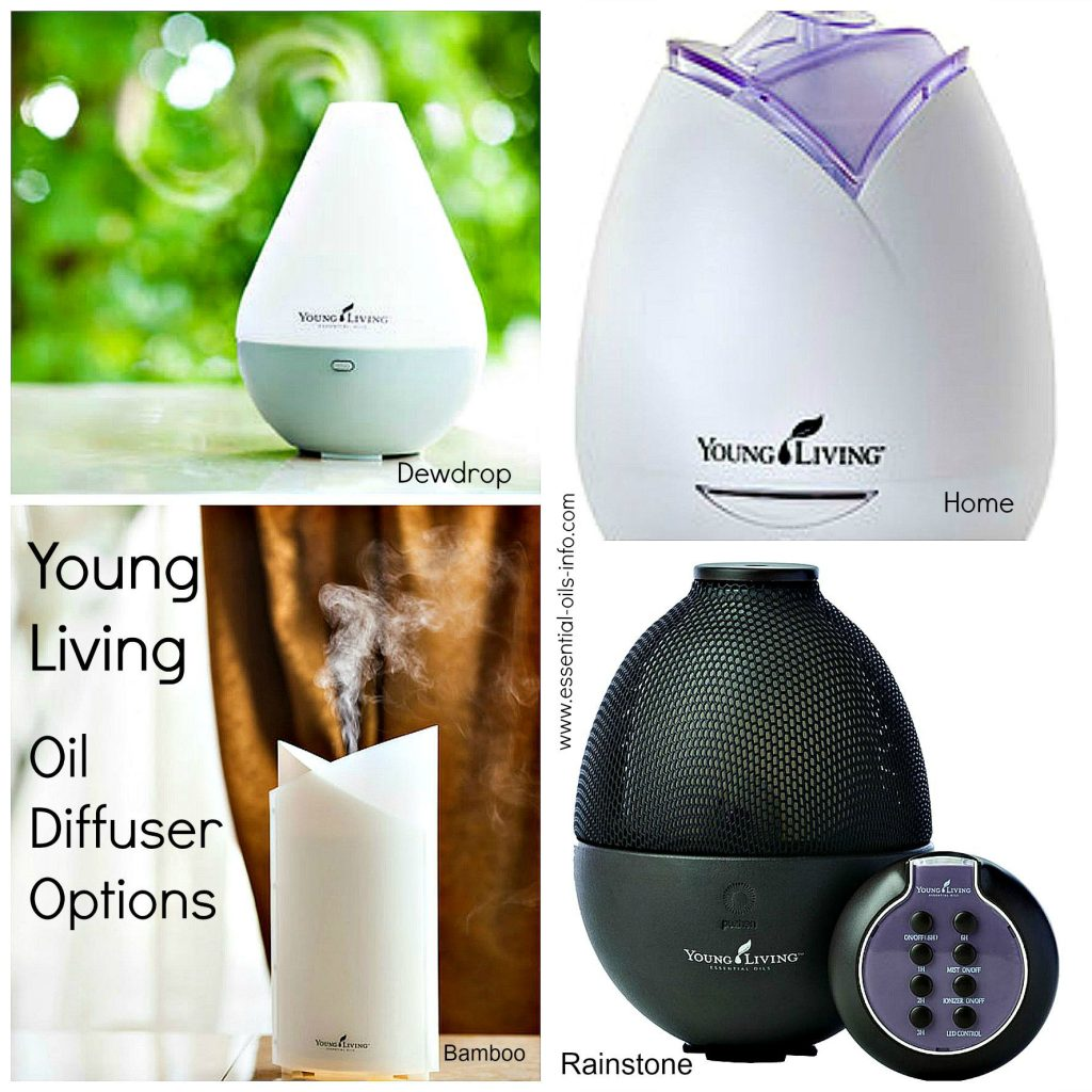 Young Living diffuser options and how they work.